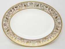 "Wedgwood Gold Florentine - W4219 - 14"" x 11"" Oval Serving Platter/Plate - VGC"