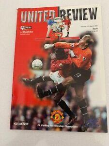 Manchester United V Wimbledon 28/03/1998
