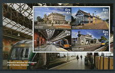 Ireland 2017 MNH Irish Railway Stations 4v M/S Trains Rail Architecture Stamps