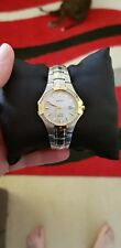 Seiko Solar Mother of Pearl Two-tone Ladies Watch