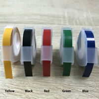 Replace Label Maker Embossing Refill Tape 9mm X 3Meters For MOTEX Dymo Labels