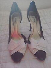 Dune uk6 black and white shoes heels.