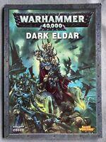 Warhammer 40K Dark Eldar Codex Games Workshop Drukhari Rule book Games Workshop