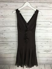 TED BAKER Party Dress - 2 UK10 - Brown - Silk - Great Condition - Women's
