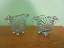 Antique Blue Glass Sugar/Creamer