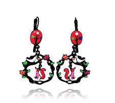 Boucles d'oreilles le corbeau et le renard ♥ arbre rouge ♥ lol bijoux 2017 Paris