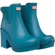 Hunter Wellies Original Block Heel Chelsea Ankle Boot Bright Peacock Size 7 BNIB