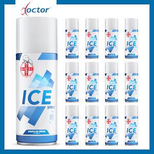 12 Ghiaccio Spray istantaneo sport sintetico mentolo 400 ml - Made in Italy