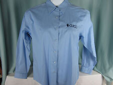 Cutco Knives Shirt womens XL Port Authority Blue Cotton Blend Long sleeve NWOT