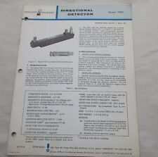 HEWLETT PACKARD 789C DIRECTIONAL DETECTOR OPERATERS NOTE MANUAL 00789-90005