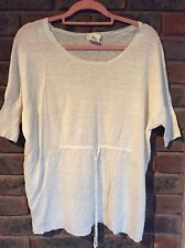 Womens PURE DKNY Boat Neck, Tie Waist Sweater Top/S