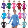 Ice Skating Dress Nylon Lycra Velvet Skirted Leotard FREE Scrunchie Up to UK 12