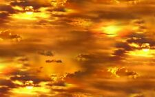 Fat Quarter Sunrise Sunset Landscape Medley Quilting Sewing Cotton Fabric