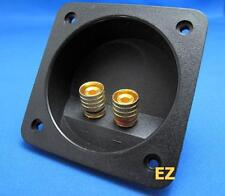 Speaker TERMINAL Plate With 2x Gold Binding Post Banana Plug Connector G867