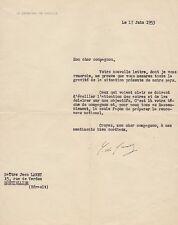 Charles De GAULLE Lettre tapuscrite signée. Elections de mai 1953. Autographe