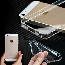 0.3mm Crystal Clear Transparent Soft Silicone TPU Cover Case for iPhone 5 5S