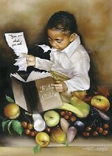 African American Art Print -You Are What You Eat (His) - Edwin Lester
