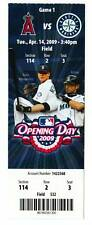 Seattle Mariners 2009 Opening Day Unused Ticket Griffey
