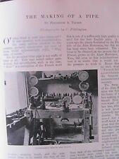 Briar Pipe Making J S Weingott Smoking Tobacco Rare Old Antique 1899 Article