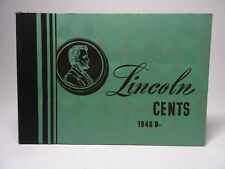 MEGHRIG G LINE 2A USED LINCOLN CENT ALBUM 1948 D-  COIN ALBUM VINTAGE