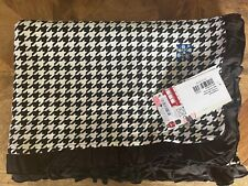 New listing New Kickee Pants Ruffle Toddler Blanket in Zebra Houndstooth (2018)