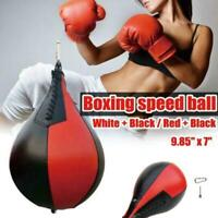 Sport Fitness MMA Boxing Punching Ball Speed Training Bag Leather Pu Pe K8T5