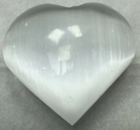 "3"" Selenite Heart Crystal Quartz Natural Stone"