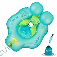 Swimming Float Ring Inflatable Neck Pool Floats with Safe Bottom Support Childre