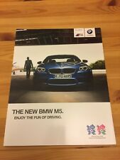 BMW M5 V8 Twin Turbo Saloon F10 2012 Car Sales Brochure + INDIVIDUAL