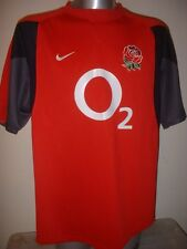 England Rugby Union Shirt Jersey Short Sleeved Nike Adult XXL Leisure Warmup Top