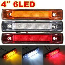 12V 6 LED Side Marker Light Indicator Lamp Clearance Trailer Truck Boat Lorry