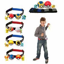 Pokemon Go Figure Game Pretend Kid Belt Clip-n-Carry Poke Ball Pokeball Toy Gift