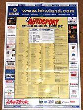 Autosport 2001 NATIONAL RACING CALENDAR - BTCC Club Meets F3 F3000 Formula Ford