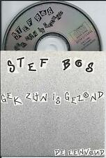 STEF BOS - Gek zijn is gezond CD SINGLE 2TR CARDSLEEVE 1990 HOLLAND RARE!