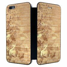 iPhone 6 PLUS Full Flip Wallet Case Cover Music Note Pattern - S3783