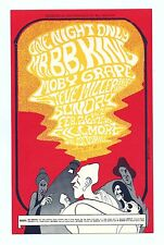 Bill Graham 52 Postcard B.B. King Moby Grape 1967 Feb 26