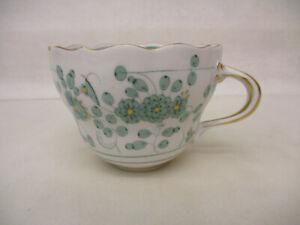 x-18021Meissen indisch grün Kaffeetasse 1.Wahl sehr guter Zustand,H ca.65mm