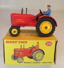 Dinky Toys 300 Massey Harris Tractor - Trecker - Schlepper rot in O-Box #5399