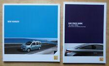 RENAULT KANGOO 2009 UK Mkt Sales Brochure + Price List