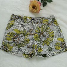 Mossimo Womens Size 8 Floral Multicolor Print Shorts Stretch