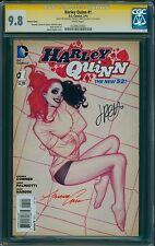 HARLEY QUINN #1 (2014)! CGC SS 9.8 Hughes Var. Cover!! Signed Amanda and Jimmy