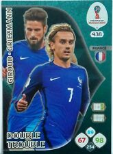 Panini ADRENALYN XL FIFA World Cup Russia 2018 DOUBLE TROUBLE  FRANCE  CARD 438