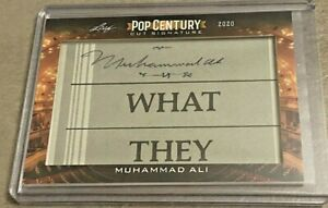 2020 Leaf Pop Century Muhammad Ali Cut Signature Auto - RARE Boxing Legend SSP