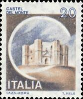 Francobollo Italia 1980 Castelli d'Italia Serie non completa (10 su 27)