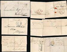 SCOTLAND 1813 BOXED MILEAGE DUMFRIES MIDCALDER GIRVAN FALKIRK N.BERWICK..6 ITEMS