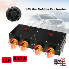 800W 4 Holes 12V Car Vehicle Fan Heater Defroster Demister Hot Heating Warmer