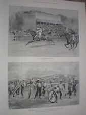 Army games Calcutta India Monsoon races & obstacle race malta 1898 old prints