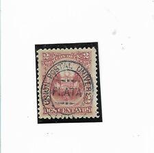 PERU 1881 COAT OF ARMS ROSE 2C OVERPRINTED MINT HINGED