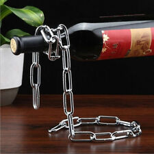 Magic Floating Chain Shape Wine Champagne Bottle Holder Stand Rack Illusion Gift