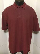 Patagonia Red Polo Shirt Size L Short Sleeve Organic Cotton Golf Shirt